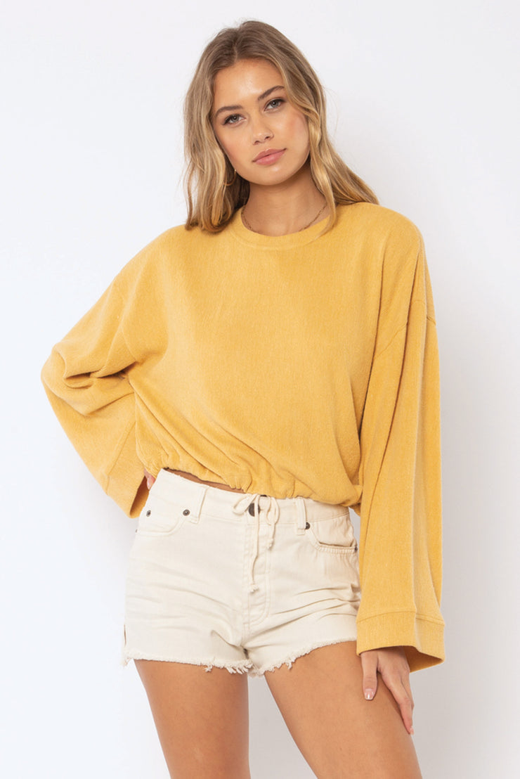 Amuse Society Lilah Knit Pullover in Harvest Gold