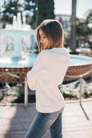 AMVI Bishop Sweater in White