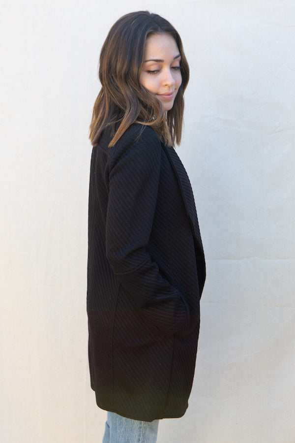 BB Dakota In Her Element Knit Coat in Black