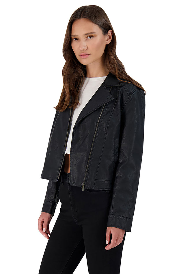 BB Dakota Motor of Fact Vegan Leather Jacket