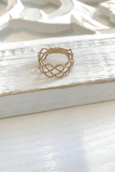 Wide Braid Ring