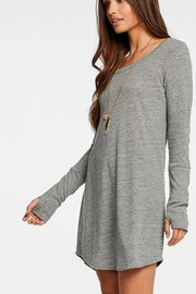 Chaser Shirttail Mini Dress in Streaky Grey