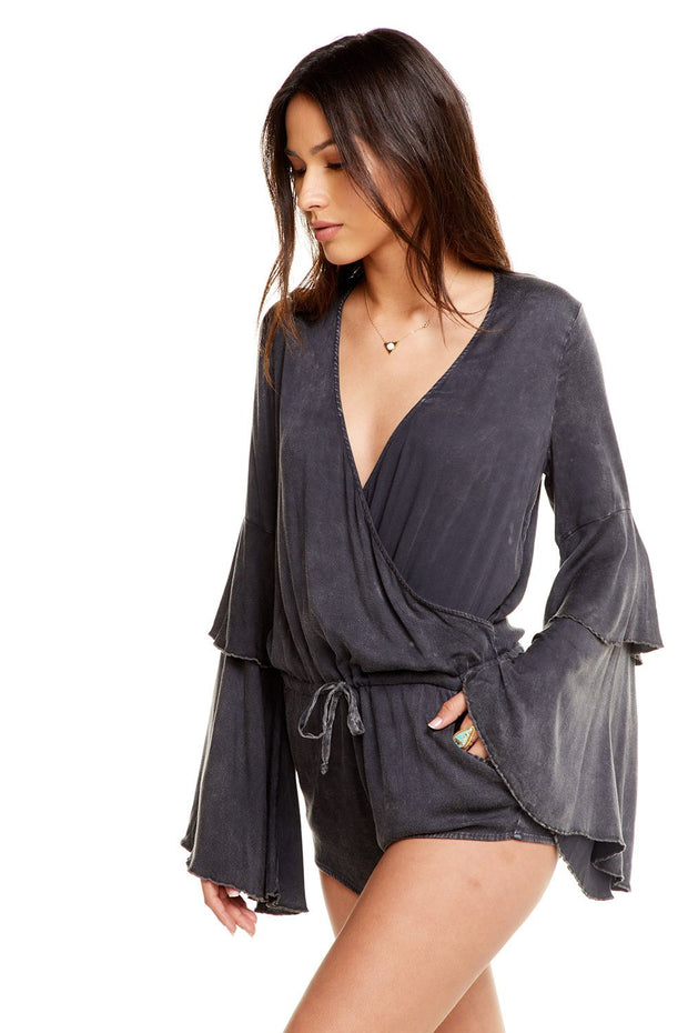 Chaser Tiered Sleeve Romper