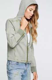 Chaser Twill Hooded Zip Up Hoodie