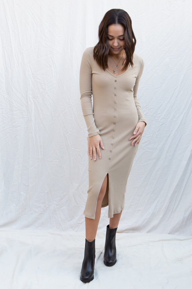 CJ Cruz Devin Dress in Sand