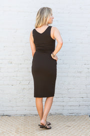 CJ Cruz Kai Midi Dress in Black
