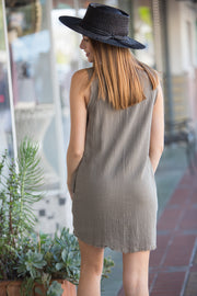 CJ Cruz Spanish Steps Dress in Olive