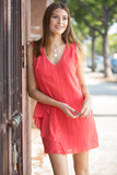 CJ Cruz Spanish Steps Dress in Red