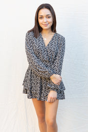 CJ Cruz Thankful Romper in Black