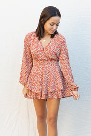 CJ Cruz Thankful Romper in Rust