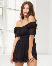 Cleobella Belle Short Dress in Black