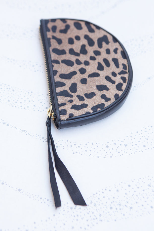 Cleobella Liya Coin Purse in Leopard