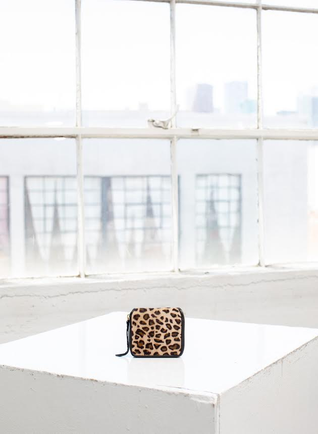 Cleobella Mira Mini Zip Wallet in Leopard