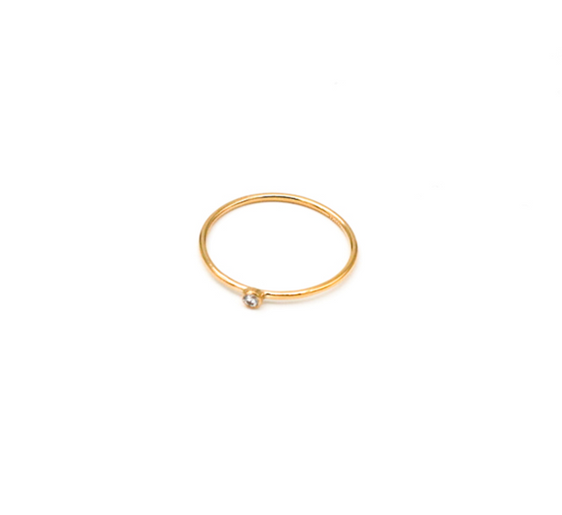 May Martin Single CZ Stacking Ring