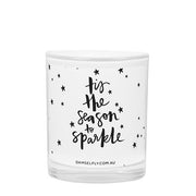 Damselfly Tis The Season To Sparkle Candle
