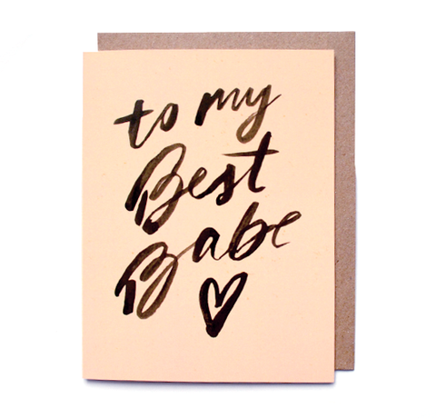 Daydream Prints Best Babe Card