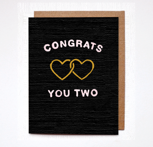 Daydream Prints Congrats You Two Card