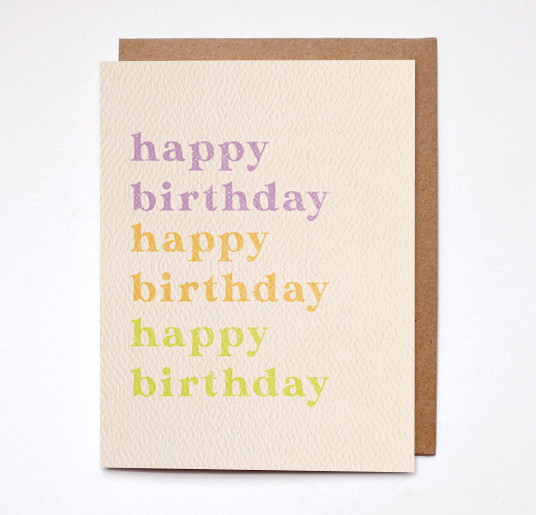 Daydream Prints Happy Birthday Colorful Card