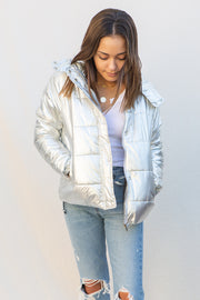 Deluc Bomber Jacket in Silver