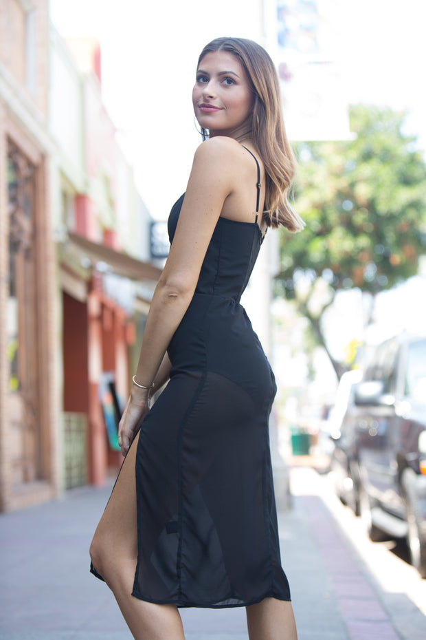 East N West Label Della Dress in Black