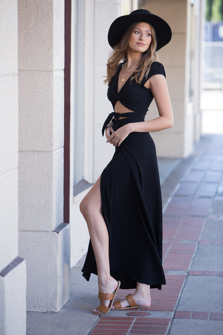 Flynn Skye All Wrapped Up Maxi in Black