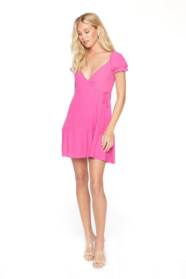 Flynn Skye Annabelle Wrap Mini Dress