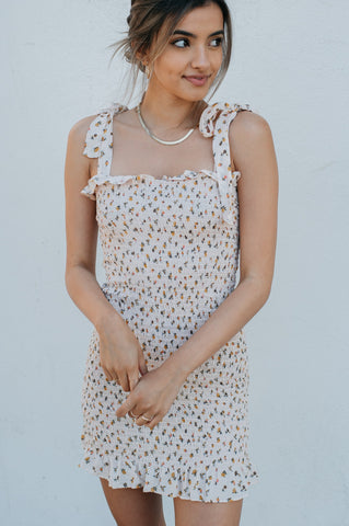 Free People Bella Smocked Slip Dress