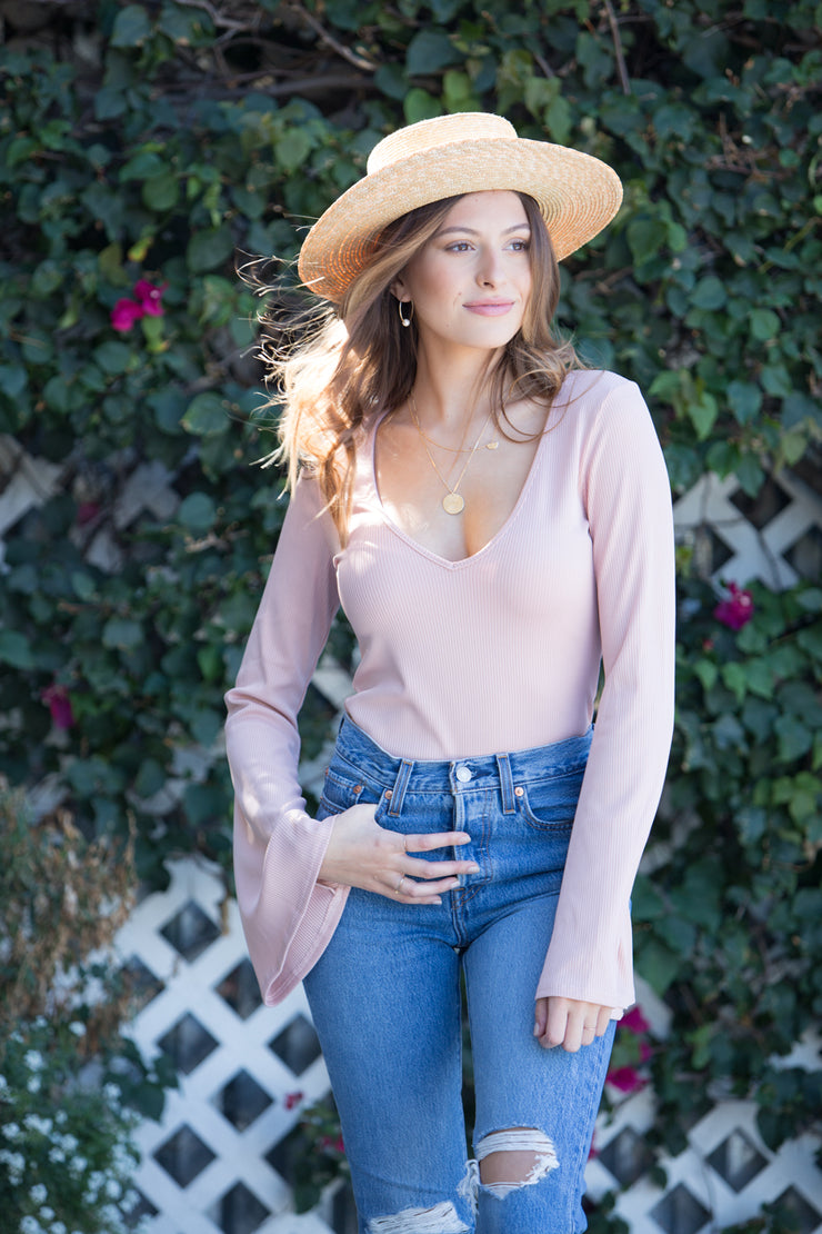 Free People Charli Bodysuit in Rose