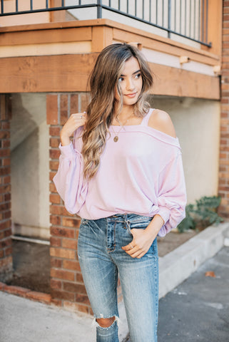 Free People Flaunt It Sweater in Lilac