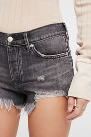 Free People Loving Good Vibrations Shorts in Carbon