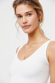 Free People Solid Rib Brami in White