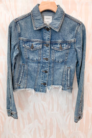 Hidden Rebel Cropped Fitted Denim Jacket