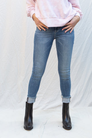 Hidden Taylor High Rise Skinny in Dark Blue