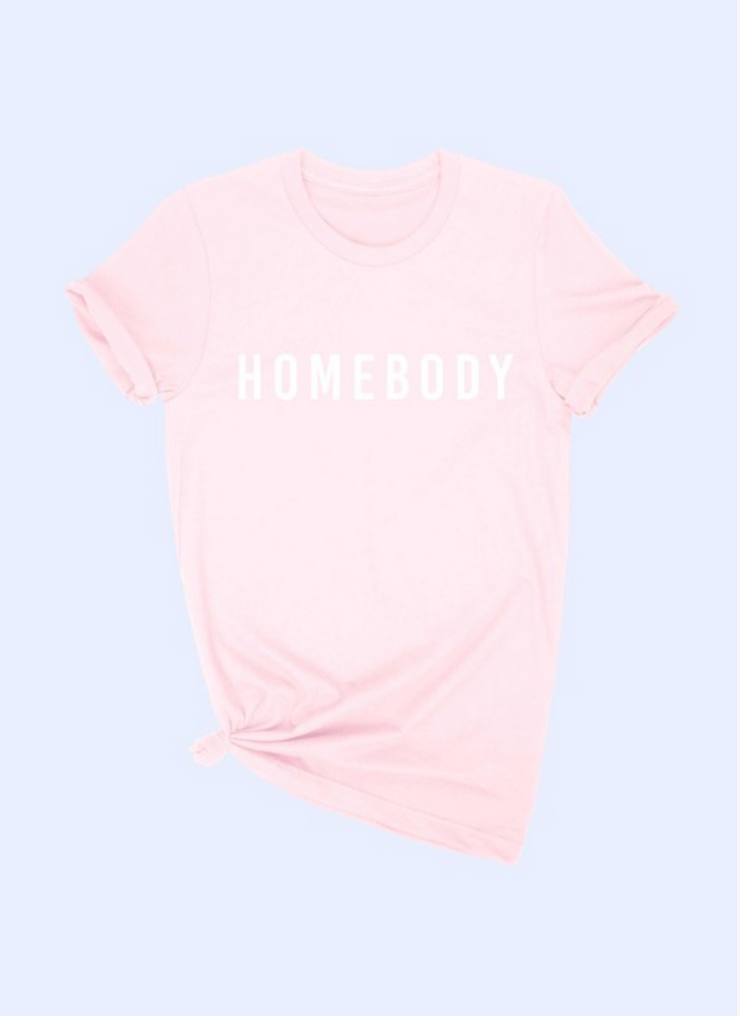 The Homebody Tee in Pink