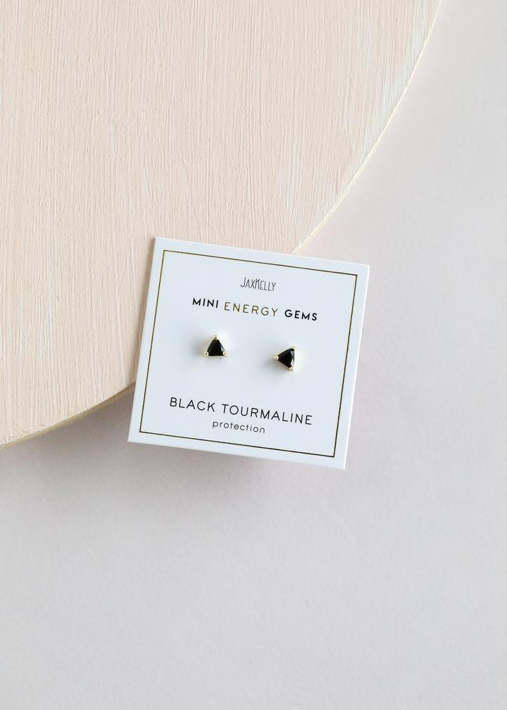 Jax Kelly Black Tourmaline Mini Energy Gem Earrings