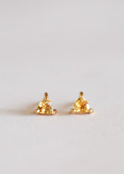 Jax Kelly Citrine Mini Energy Gem Earrings