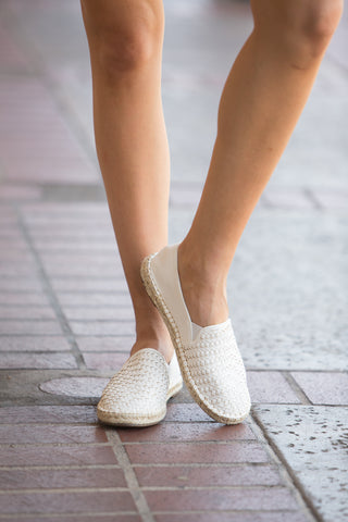 Josie Espadrille in White