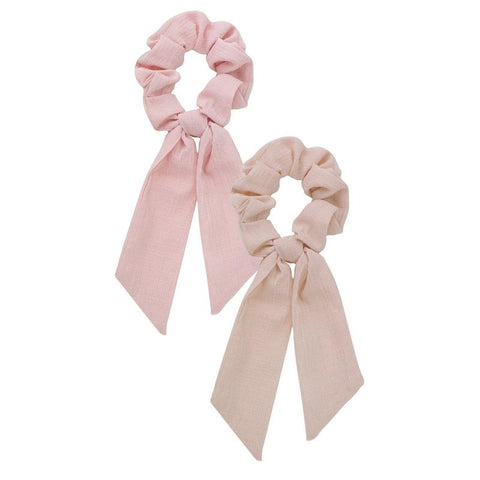 Kitsch Scarf Scrunchies in Blush + Mauve