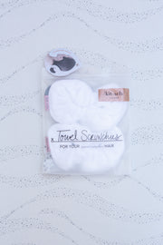 Kitsch Microfiber Towel Scrunchies in White