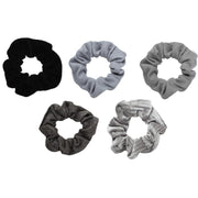 Kitsch Velvet Scrunchies in Black + Gray