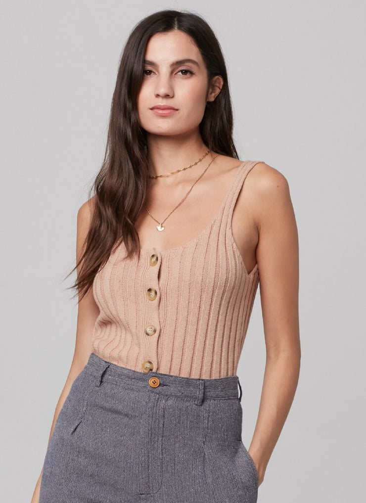 Knot Sisters Sayo Sweater Tank in Camel