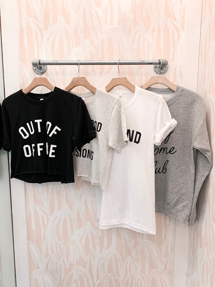 Out of Office Crop Tee