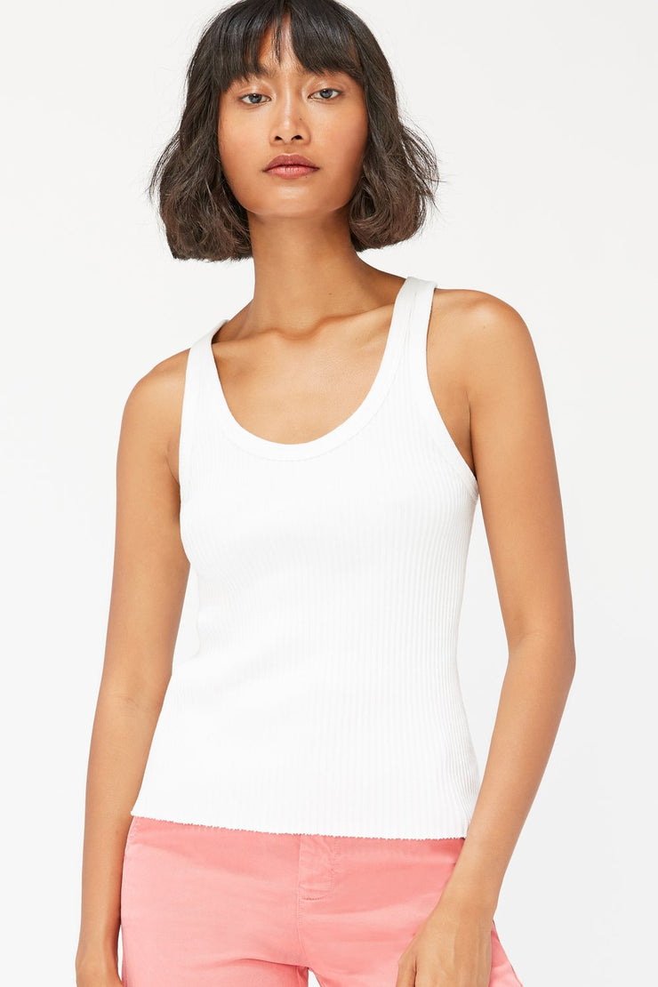 Lacausa Cora Tank in White