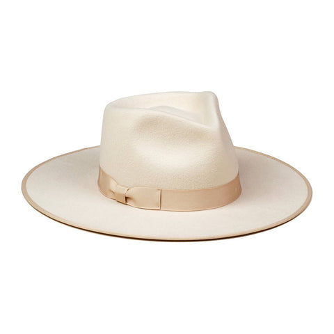 Lack of Color Ivory Rancher Fedora Hat