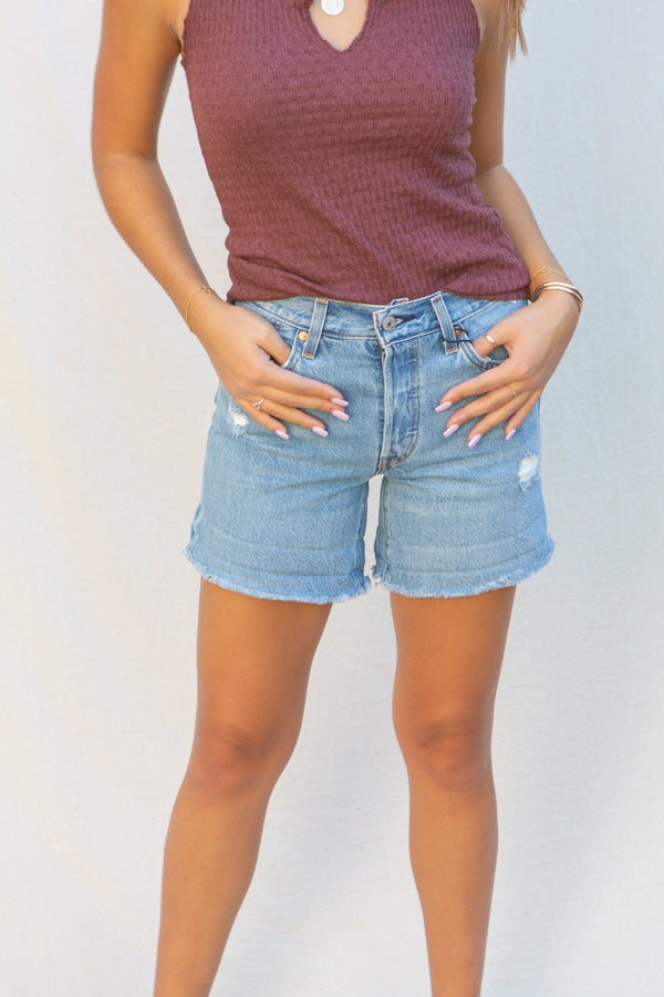 Levi's 501 Rolled Shorts in Sansome Midday