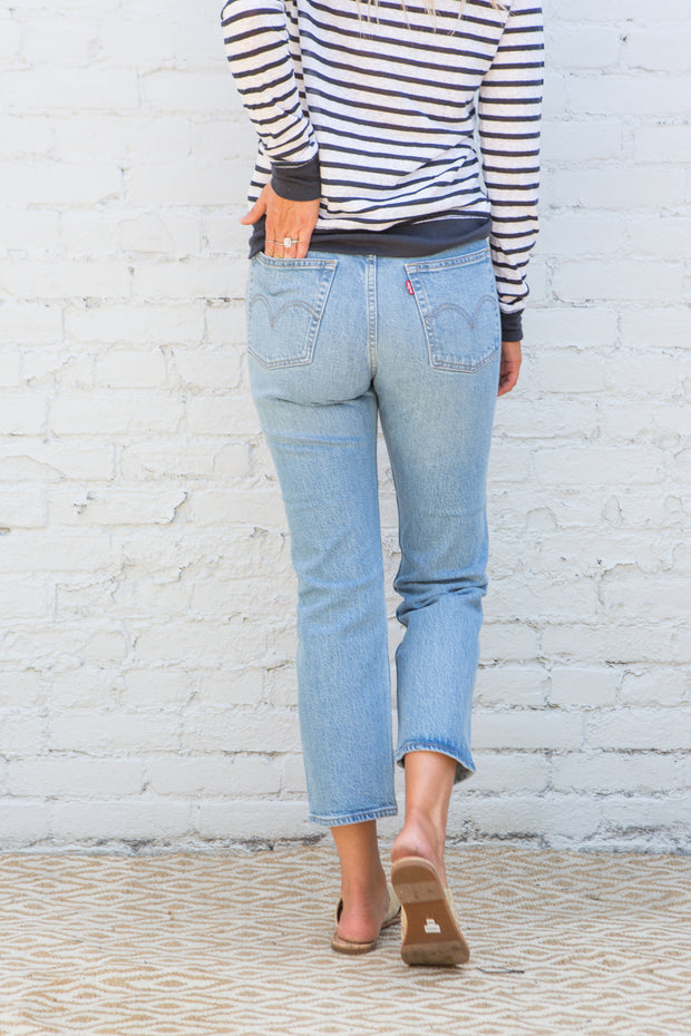 Levi's Wedgie Straight in Tango Blue