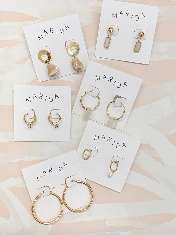 Marida Passage Earrings in Moonstone