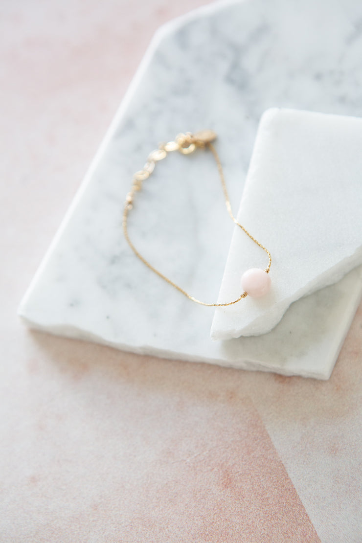 Marida Itty Bitty Bracelet in Pink Opal
