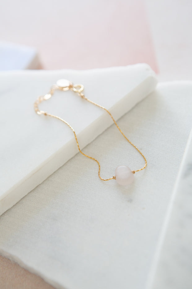 Marida Itty Bitty Bracelet in Rose Quartz