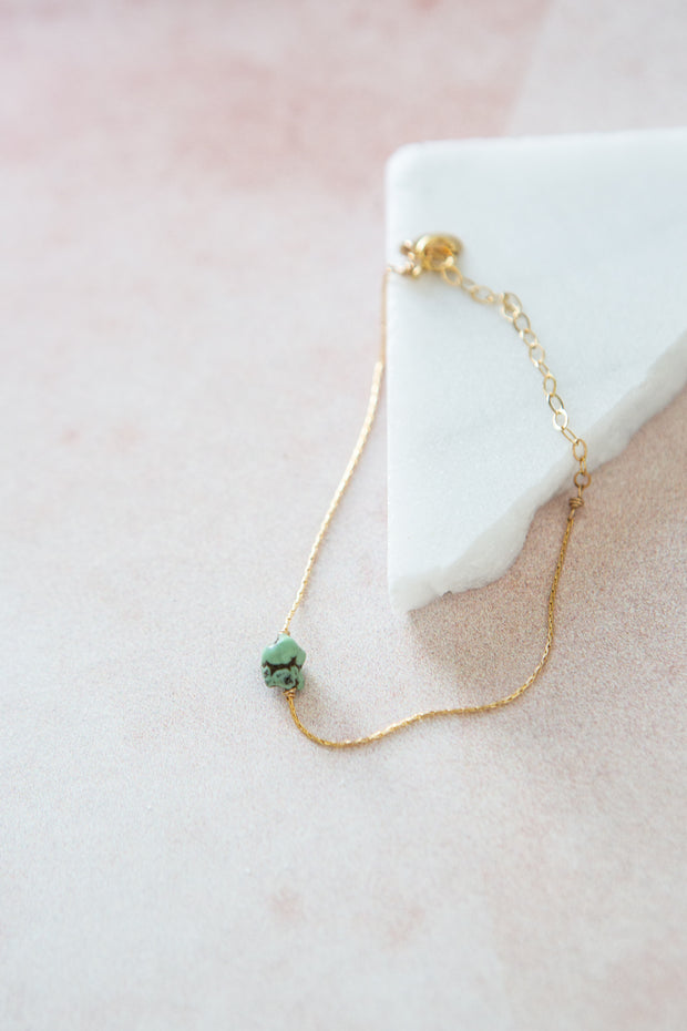 Marida Itty Bitty Bracelet in Green Turquoise